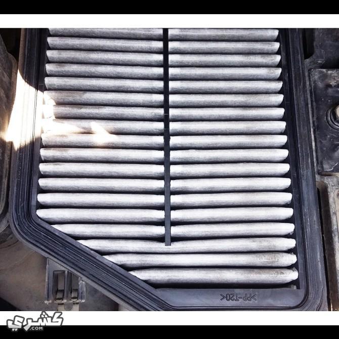 أفحص فلتر هواء السيارة