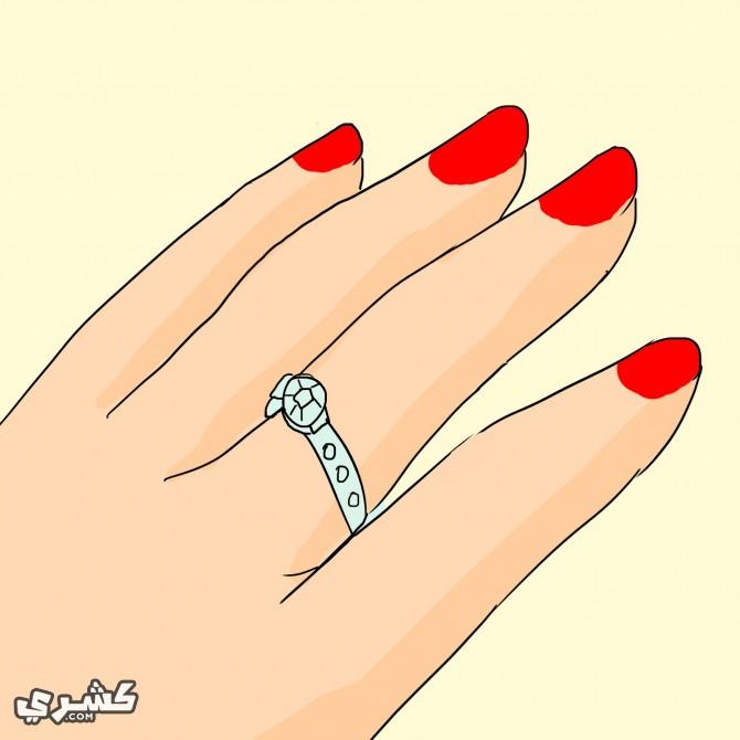 استعيني بالبلسم اذا علق الخاتم باصبعك