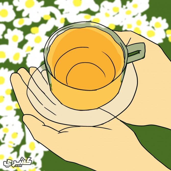 تناول شاي الهندباء (الشيكوريا)