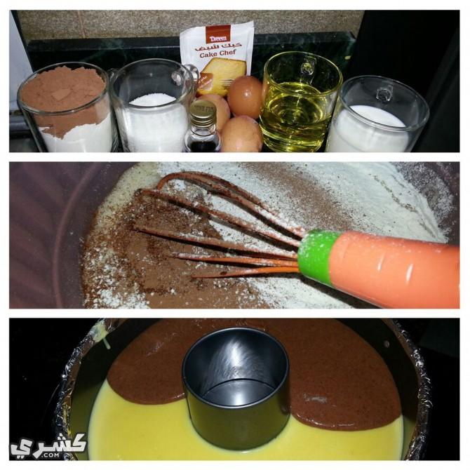 اصنعي كيكة الشيكولاته
