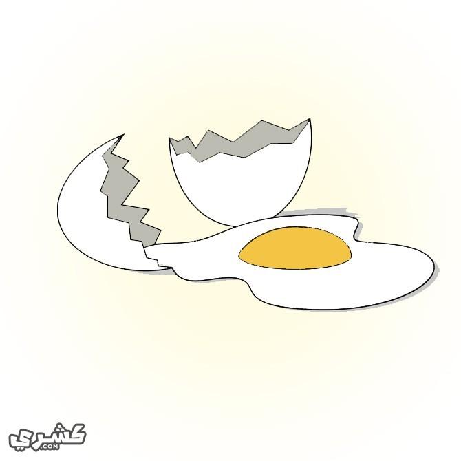 لا تعطيها البيض النيء
