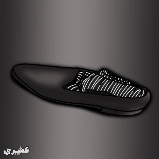 ضع جواربك داخل حذاءك