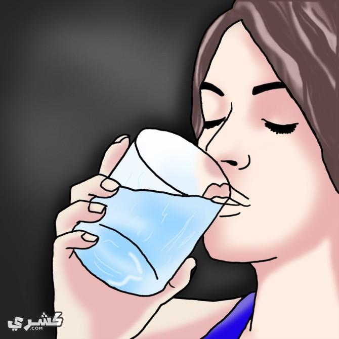 اشرب الماء وضع التوابل في طعامك
