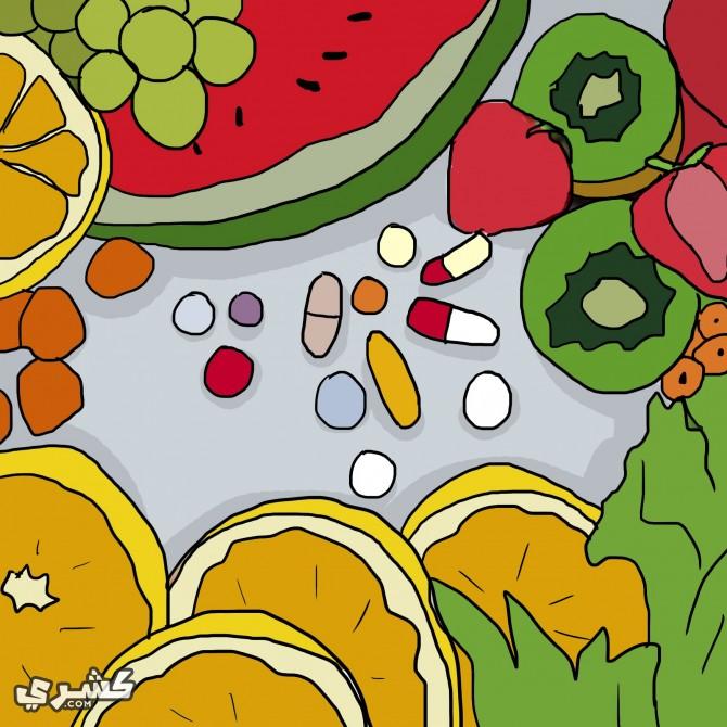 تناول الخضروات والفواكة بالسحور