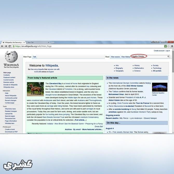 استخدم ويكيبيديا باللغة الانجليزية