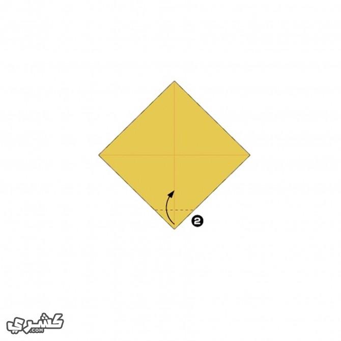 إطو الورقة على الخط المنقط