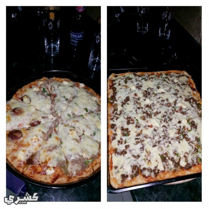 اخبزي البيتزا