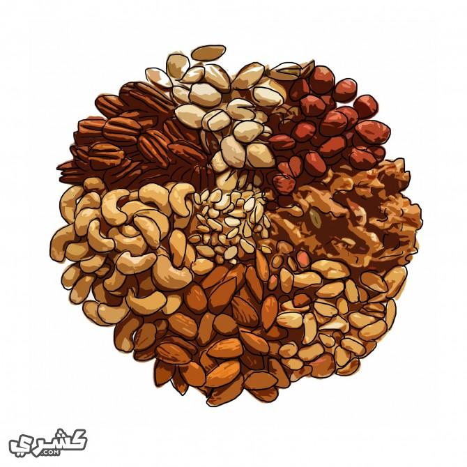 تناول الفاكهة المجففة والبقوليات و المكسرات بالسحور