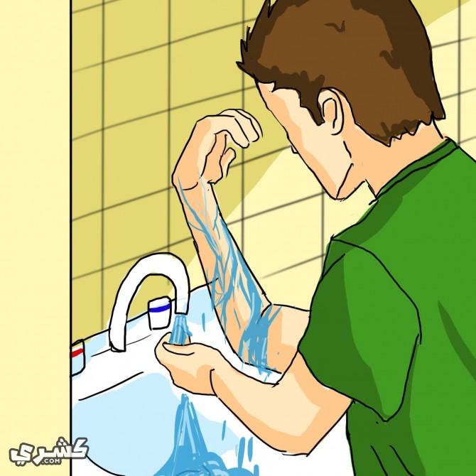 اغسل اماكن الرش قبل التعرض للشمس