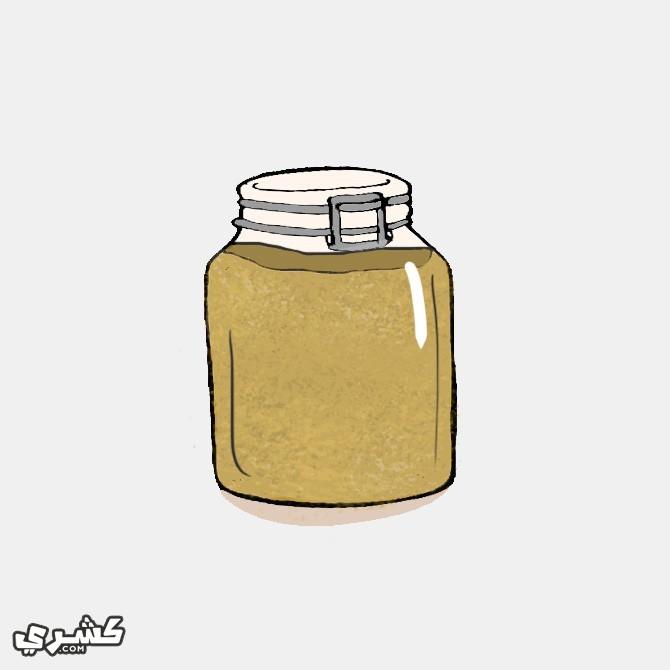 ضعي البهارات في وعاء زجاجي