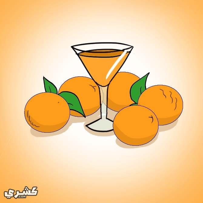 تناول البرتقال والبقدونس
