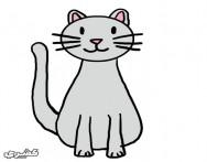كيف ترسم قطة بالخطوات والصور