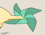 كيف تصنع لعبة طاحونة ورقية للأطفال