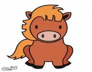 كيف ترسم حصان بالخطوات والصور