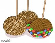 طريقة عمل عيدان التفاح بالكراميل